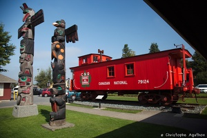 CN 79124 and totem poles